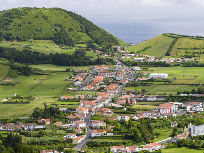 Faial Island, an island in the Azores (Ilhas dos Acores) in the Atlantic ocean. The Azores are an autonomous region of Portugal. — Stock Photo