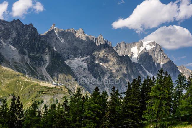 Val veny tal, monte bianco berg, courmayeur; valle d 'aosta; italien; europa — Stockfoto
