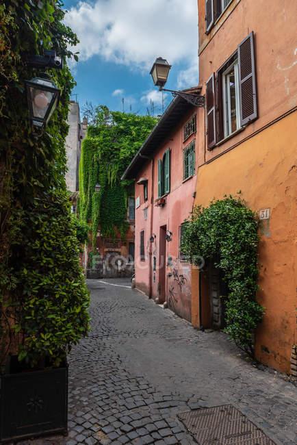 Foreshortening, quartiere Trastevere, Roma, Lazio, Italia, Europa — Foto stock
