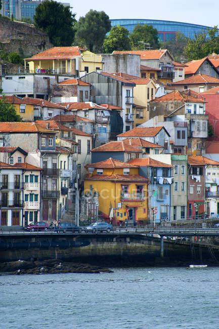 Vila Nova de Gaia a Rio Douro, Portogallo, Europa — Foto stock
