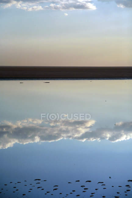 Chott el Jerid, salt lake, Tunisia, North Africa — Stock Photo