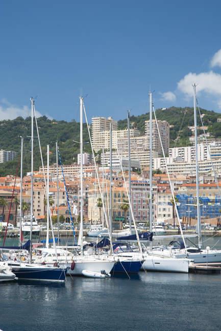 The port of Ajaccio, Corsica, France Europe — Stock Photo