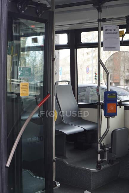 Bus,lifestyle, COVID_19,  Corona Virus, Milan, Lombardy, Italy, Europe — Stock Photo