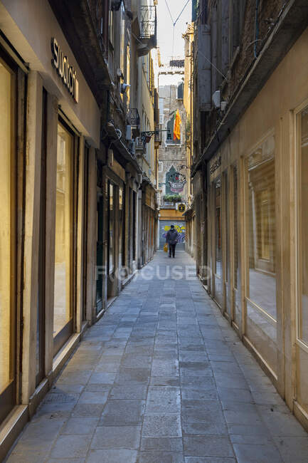 Mercerie, COVID-19 lifestyle, Venice, Veneto, Italy, Europe — Stock Photo