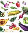 Варіації свіжих овочів на білому фоні — стокове фото