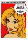 Beautiful, blonde woman thinking about fun — Stock Photo
