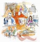 Коллаж обучения студентов — стоковое фото