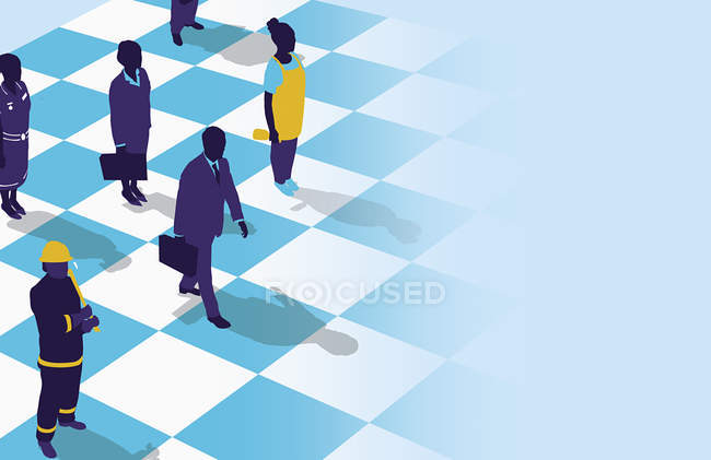 Business people on chess board — Stock Photo