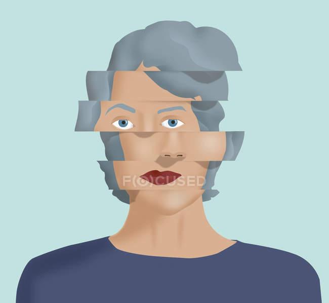 Изменившееся лицо женщины — стоковое фото