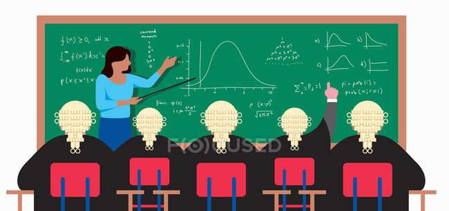 Учитель на дошці, пояснюючи формули для юристів — стокове фото