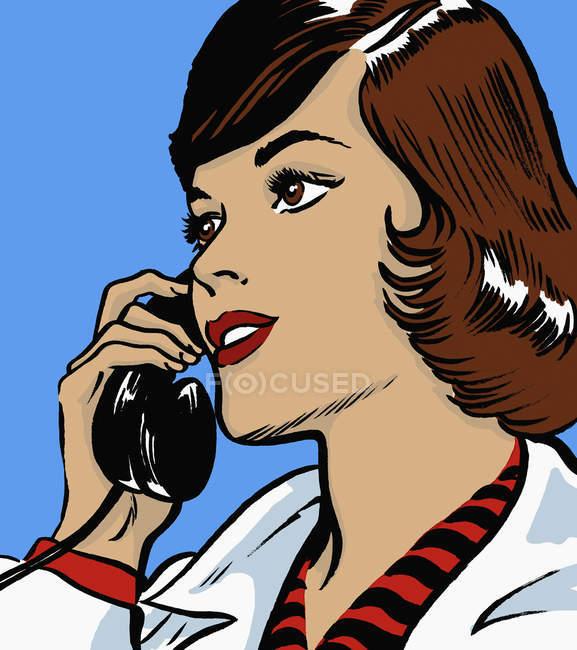 Doctor talking on telephone — Stock Photo