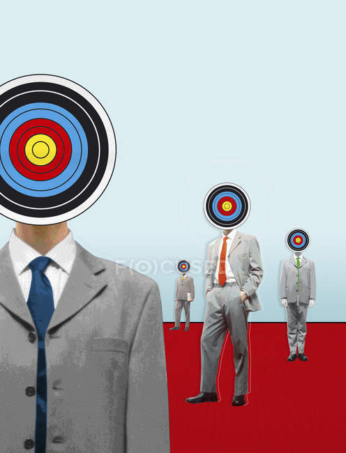 Businessmen with targets for heads — Stock Photo