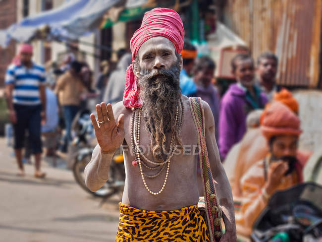 Arresting Sadhus Portrait Photography Religious Photography: Religious - Stock Photos, Royalty Free Images