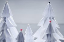 Close-up view of paper Christmas trees — Stock Photo