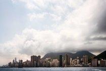 Vista panoramica della baia di Hong Kong — Foto stock