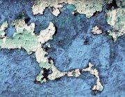 Estructura de la pared azul apenado - foto de stock