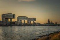 Architecture city buildings, Rheinauhafen, Cologne, Germany, — Stock Photo