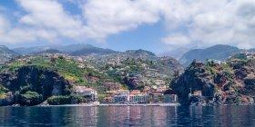 Coastal landscape of Madeira village — Stock Photo