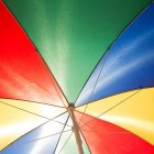 Low angle view of colorful beach umbrella — Stock Photo