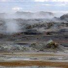 Namafjall campo geotérmico — Fotografia de Stock