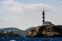 Porto Colom-Leuchtturm — Stockfoto