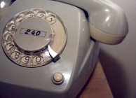 Close-up view of vintage telephone — Stock Photo