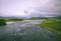 Vista panoramica della splendida catena montuosa paesaggio — Foto stock