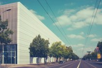 Deserted street with buildings — Stock Photo