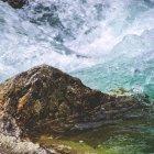 Paesaggio con vista sulla cascata — Foto stock