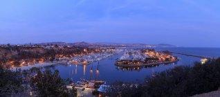 Panoramic view of Dana Point harbor lights, Orange County, California. — Stock Photo