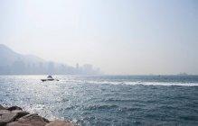 Ligne d'horizon de la baie de Hong Kong — Photo de stock
