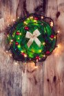 Christmas decoration with lights — Stock Photo