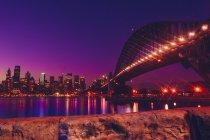 Sydney Skyline, evening — Stock Photo