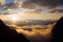 Paisaje de los Alpes austríacos - foto de stock