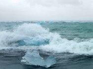 Landscape with glacier iceberg — Stock Photo