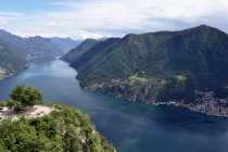 San salvatore, Italy mountains and river — Stock Photo