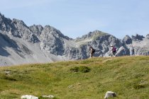 Paysage avec montagnes — Photo de stock