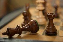 Figuren auf dem Schachbrett, Closeup, selektiven Fokus — Stockfoto