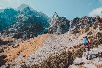 Caminhar nas montanhas de Tatra — Fotografia de Stock