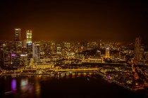 Світлові міський пейзаж Сінгапуру — стокове фото