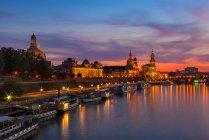 Dresden After Sundown — Stock Photo