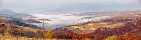 Splendida vista del panorama dei Carpazi — Foto stock