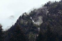 Cascada natural de la montaña hermosa - foto de stock
