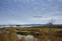 Icelandic landscape with mountains — Stock Photo