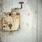 Old iron door lock — Stock Photo