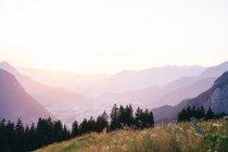 Paysage de montagnes alpines — Photo de stock
