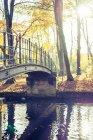 Краєвид з міст над rivel — стокове фото