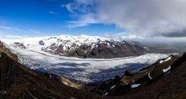 Snowy landscape of iceland — Stock Photo