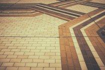 Street pavement flooring design texture — Stock Photo