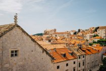 Dubrovnik cityscape with old town — Stock Photo